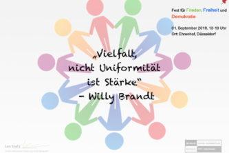 Leo Statz-Berufskolleg beteiligt sich am Düsseldorfer Fest für Frieden, Freiheit und Demokratie