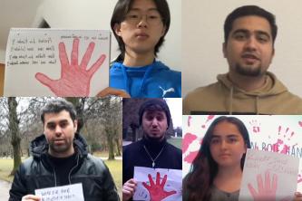 Mobile Aktion Rote Hand am 9. Februar 2021